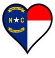love north carolina vector image vector image