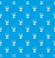 magic hat with stars pattern seamless blue vector image vector image