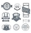 medical label template set Emblem element for vector image vector image