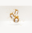 merry new year and christmas 2022 white gift vector image