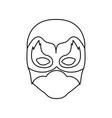 monochrome contour of faceless man superhero vector image vector image