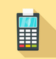 Nfc payment terminal icon flat style
