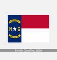 north carolina usa state flag nc usa vector image vector image