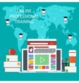 Online education professional education vector image