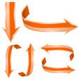 orange arrows 3d vector image vector image