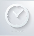 Paper Clock Watch Icon vector image
