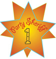 Party Sheriff vector image vector image