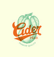pear cider label vector image vector image
