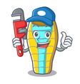 plumber sleeping bad mascot cartoon vector image