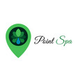 point spa water drop logo template design vector image