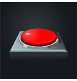 realistic red button interface element vector image