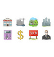 realtor agency icons in set collection for design vector image vector image