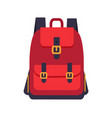 red backpack with black slings colorful banner vector image vector image