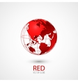 Red Globe vector image vector image
