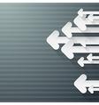 Retro Paper Arrows on Grey Background vector image vector image