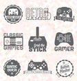 Retro Video Game Shop Labels vector image vector image