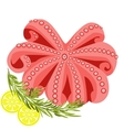 Seafood Octopus lemon rosemary vector image vector image