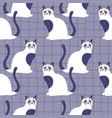 seamless pattern with kittens creative retro vector image