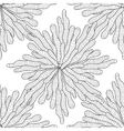 Seamless zentangle seaweed wave hand drawn pattern vector image