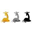 set giraffe character vector image vector image