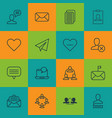 set of 16 social icons includes follow read vector image vector image