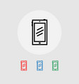 set of smartphone web icons banner vector image vector image