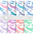 set retro airplane sky vector image