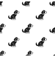 Sitting dog icon in black style for web vector image vector image