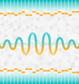 sound and audio waves equalizer background vector image vector image