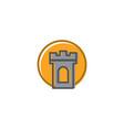 sun castle logo vector image