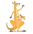 Two funny kangaroos vector image vector image