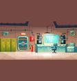underground bunker interior bomb shelter vector image vector image