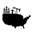 usa oil production vector image vector image