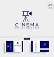 video cinema with tripod stand simple logo vector image