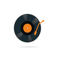 vinyl record icon in color vector image vector image