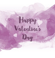 Watercolour Valentines Day background 0601 vector image vector image