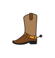 western boot icon design template isolated vector image