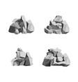 cartoon rocks and stones set vector image