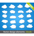 Design Elements Clouds vector image