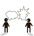 Dialogue of people with different opinions and vector image