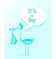 Baby shower boy invitation card design vector image