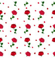 red rose pattern vector image