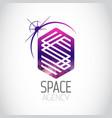 space agency purple logo vector image