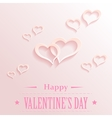Valentine backgrond with hearts vector image