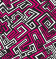 abstract pink maze seamless pattern with grunge vector image vector image