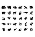 animals logos collection vector image