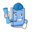 architect office binder with file character funny vector image