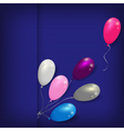 balloons striped card template vector image vector image