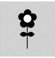 beautiful flower design vector image