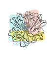 beautiful hand drawn flower with colorful abstract vector image
